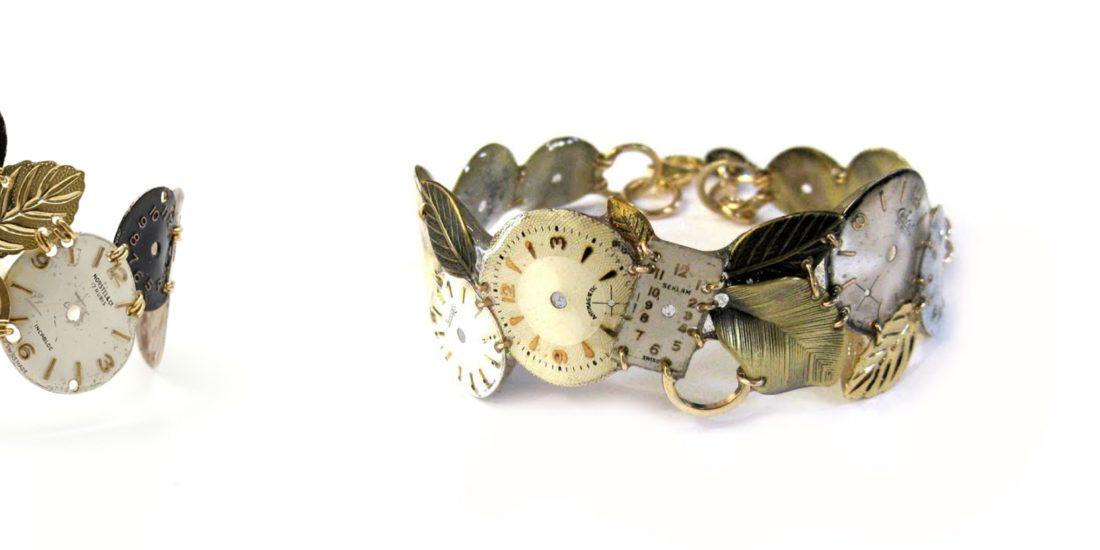 bracciali in oro e quadranti di orologio vintage