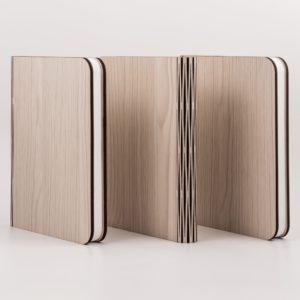 obook lampada a libro copertina in legno usb