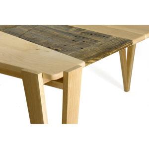 tavolo artigianale in legno massello nuovo e legno di recupero