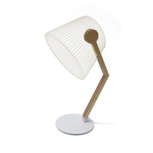 Lampada Ziggy betulla e ferro 3d luce led Cheha