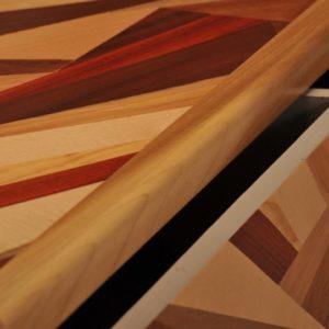 cassettiera legno massello stile contemporaneo