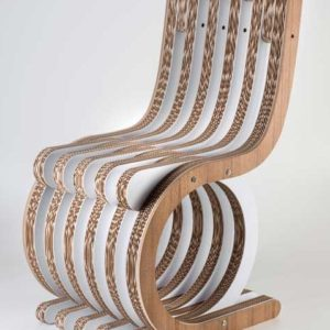 Twist chair seduta in cartone ecologico