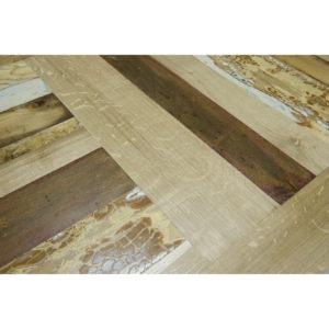 piano tavolo legno massello rovere nuovo e intarsio legno vintage