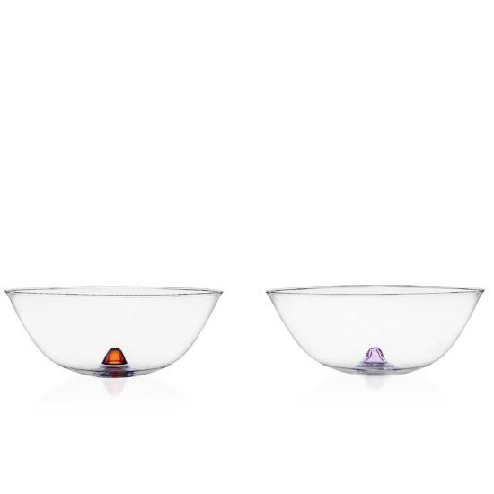 Coppette da frutta in vetro e decorazione colorate Ichendorf