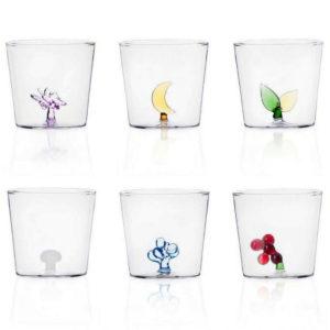 bicchieri da acqua decorati vetro colorato ichendorf