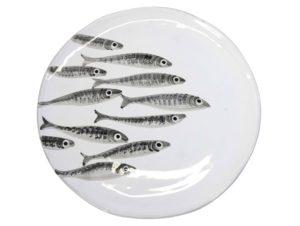Vassoio Tondo linea Marina sardine Virginia Casa