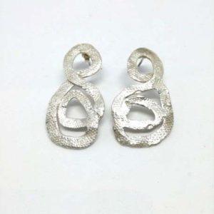 Orecchini intreccio in argento Robin Clerici