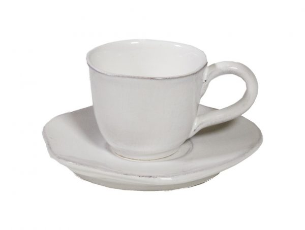 tazzine caffè collezione Organica bianca con piattino