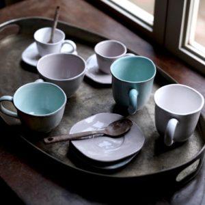 tazzine caffè collezione Organica con piattino virginia casa