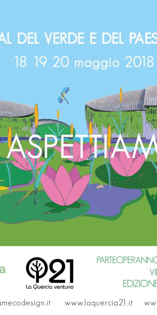 Invito al festival del verde e del paesaggio 2018 nel giardino pensile auditorium parco della musica di roma: nam ecodesign e Laquercia21