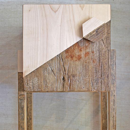 Mobile tipo comodino in legno vintage di recupero e legno massello su misura Roma