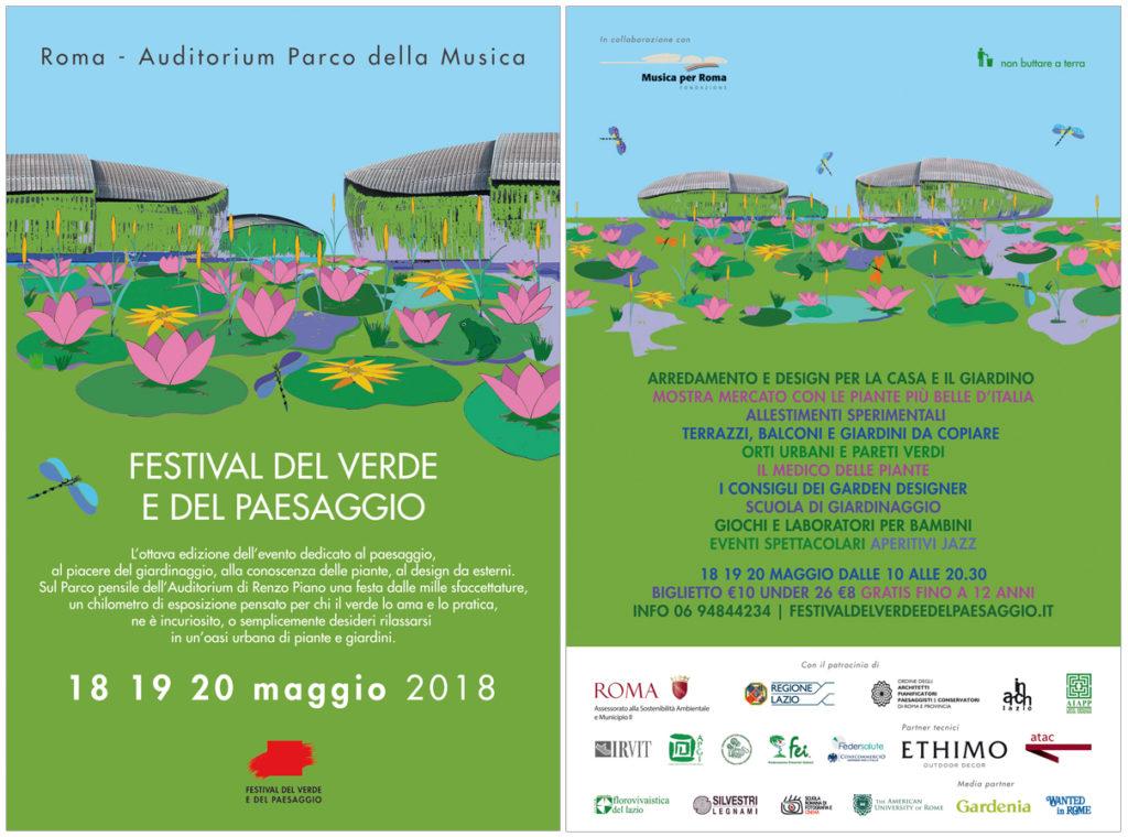 Programma Ottava edizione del Festival del Verde e del Paesaggio 2018 Roma