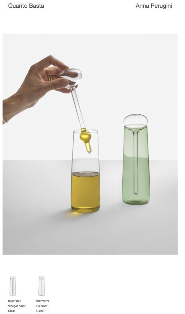 oliera con tappo dosatore in vetro ichendorf