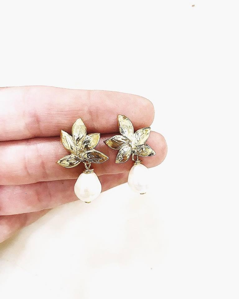 orecchini in oro con perle per la sposa matrimonio