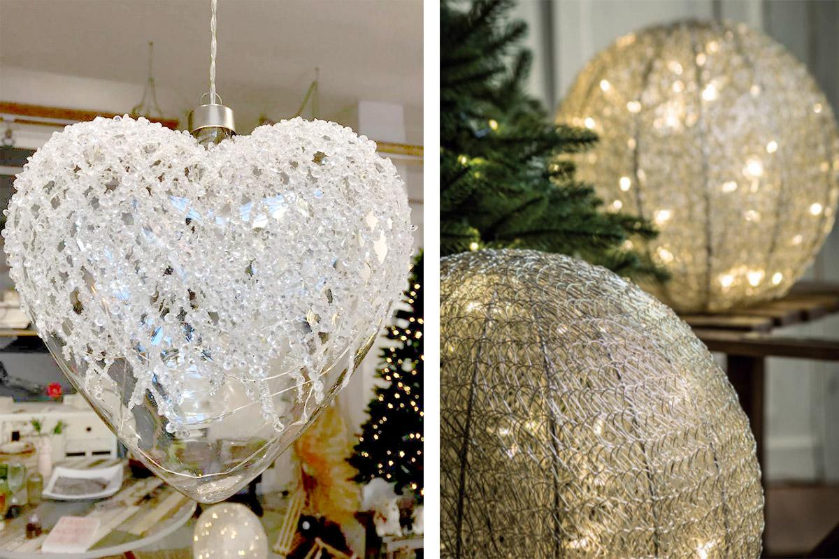 decorazioni in vetro e luci led