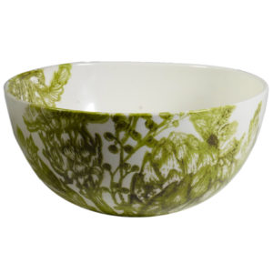 insalatiera bianca e verde ceramica virginia casa