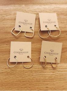 Coquelicot Jewellery orecchini cerchi in oro
