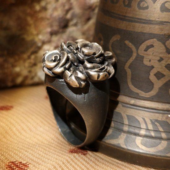 Anello argento ossidato