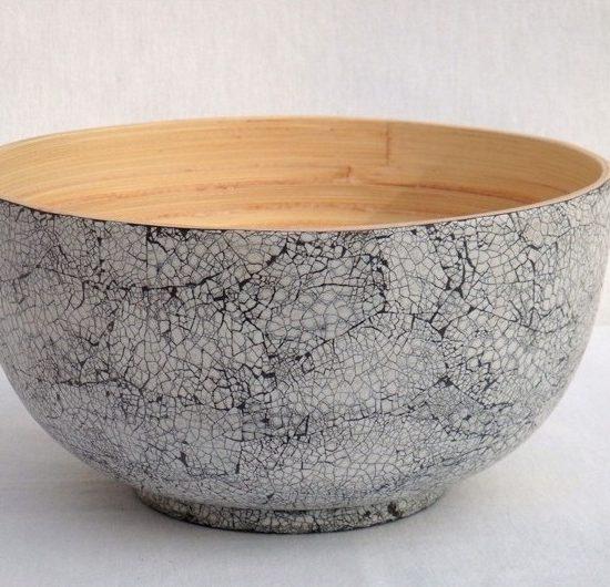 bowl insalatiera in bambu vietnam guscio d'anatra