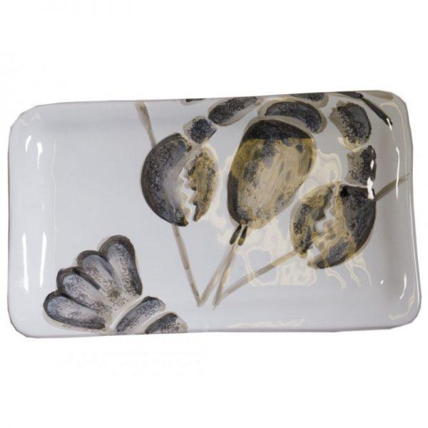 vassoio aragosta virgini casa grigio bianco ceramica