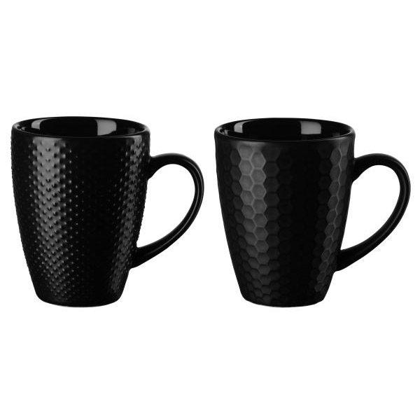 tazze nere per la colazione e il caffè americano in ceramica