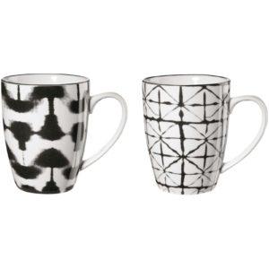 tazze con decorazioni maori bianco e nero asa selection