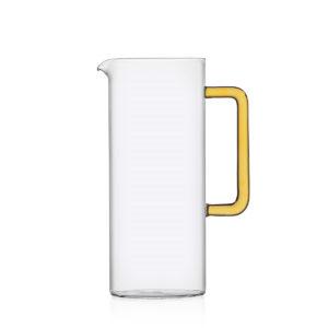 brocca acqua ichendorf con manico vetro giallo