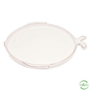 Vassoio forma di pesce linea marina ceramica bianca Virginia Casa