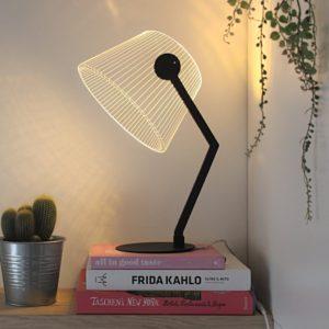 Lampada 3D led Ziggi Black ferro e vetro acrilico