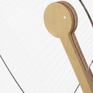 lampada studio Cheha ferro e legno betulla 3D led