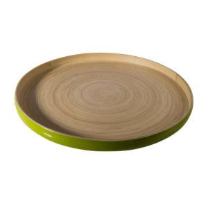 Vassoio in bambù khay bibol verde lucido