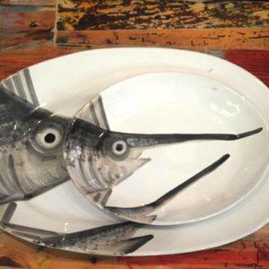 vassoio ovale pesce spada Virginia casa