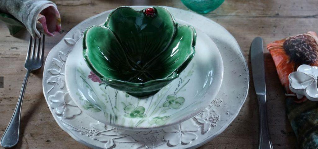 servizio piatti ceramica decorata a mano Virginia Casa Prato