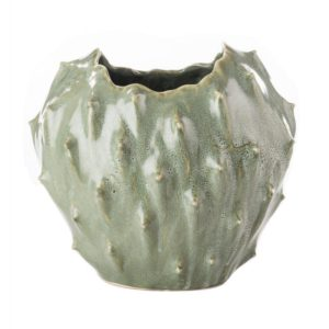 Vaso a forma di cactus in ceramica l'oca nera