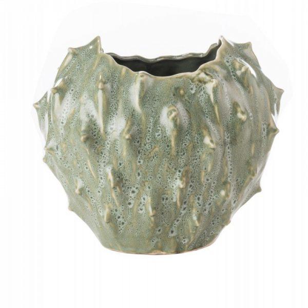 Vaso a forma di cactus in ceramica l'oca nera piccolo