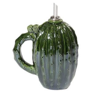 oliera in ceramica verde a forma di cactus linea esotica virginia casa