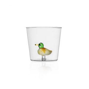 Bicchiere con anatra Collezione Animal Farm Ichendorf Roma