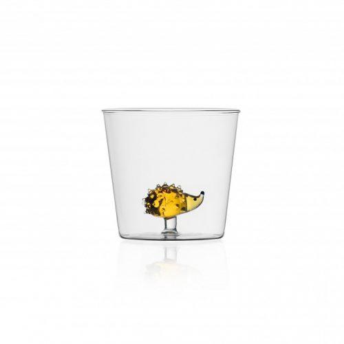 bicchiere animal farm riccio ichendorf vetro colorato acqua
