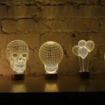 lampade 2d effetto ottico 3d led studio cheha