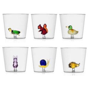 bicchieri ichendorf collezione animal farm da acqua
