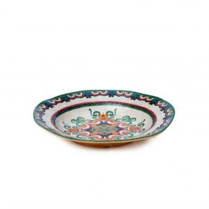 piatto fondo decorato in melamina Caltagirone di L'abitare
