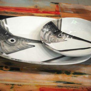 virginia casa vassoio ovale pesce spada linea marina