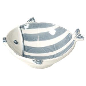 piatto fondo per zuppa a forma di pesce blu linea marina virginia casa