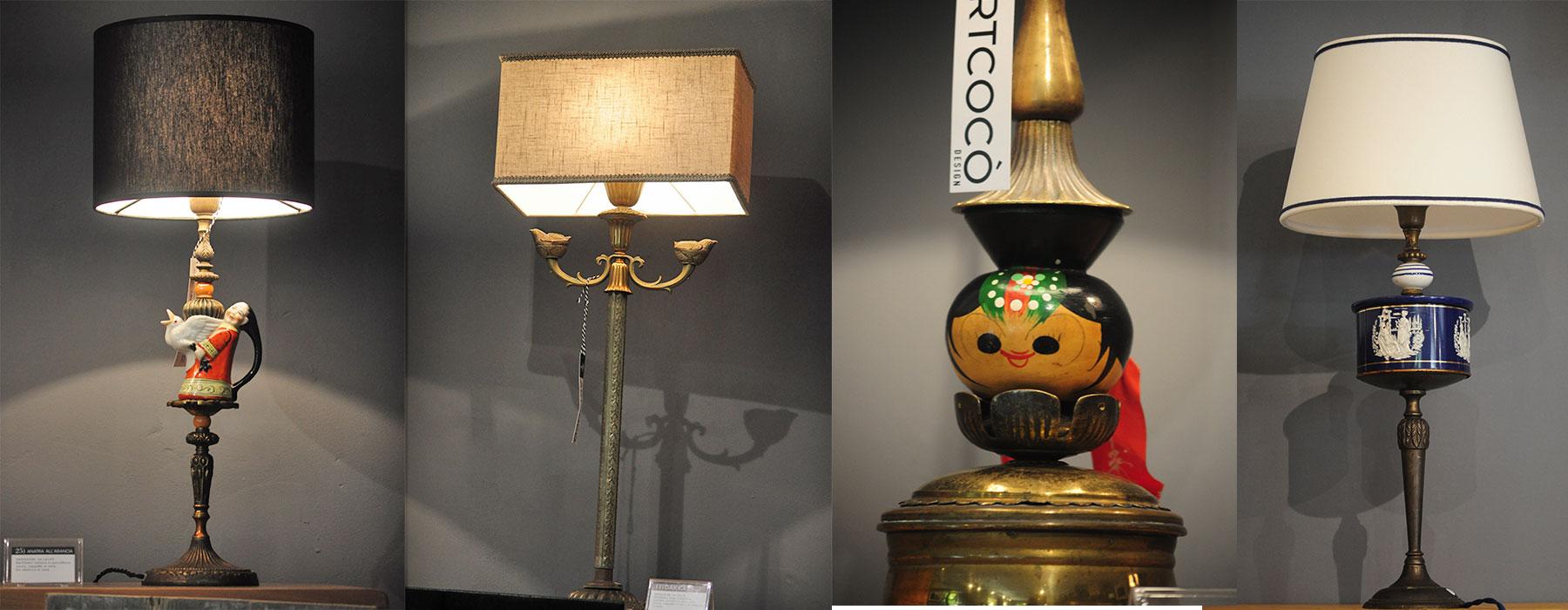 lampade artigianali vintage antiquariato