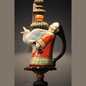 Lampada con oggetti in ceramica vintage Artcocò