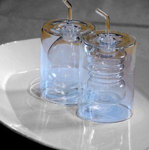 oliera in vetro ichendorf Ring doppia parete design contemporaneo