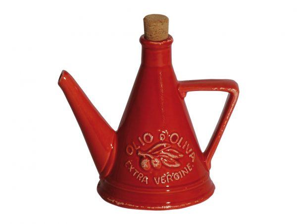 oliera in ceramica rossa natale virginia casa