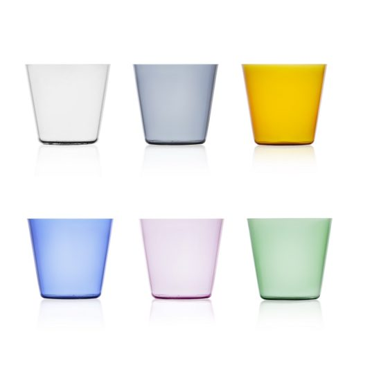 set bicchieri vetro colorato trasparente high rise ichendorf online