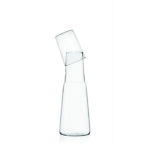 brocca in vetro trasparente Torre con tappo bicchiere Ichendrof