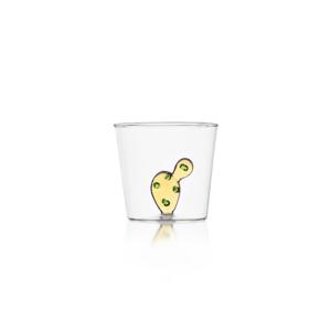 ichendorf bicchieri linea cactus vetro e cactus in vetro giallo